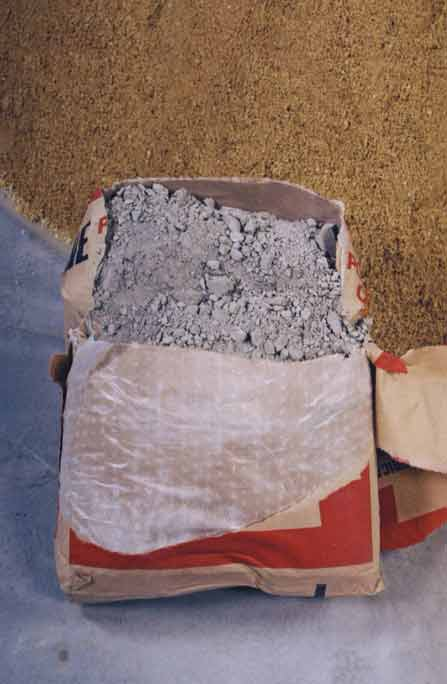 Portland Cement Bags : Cement lumps bad bags anti humidity shed